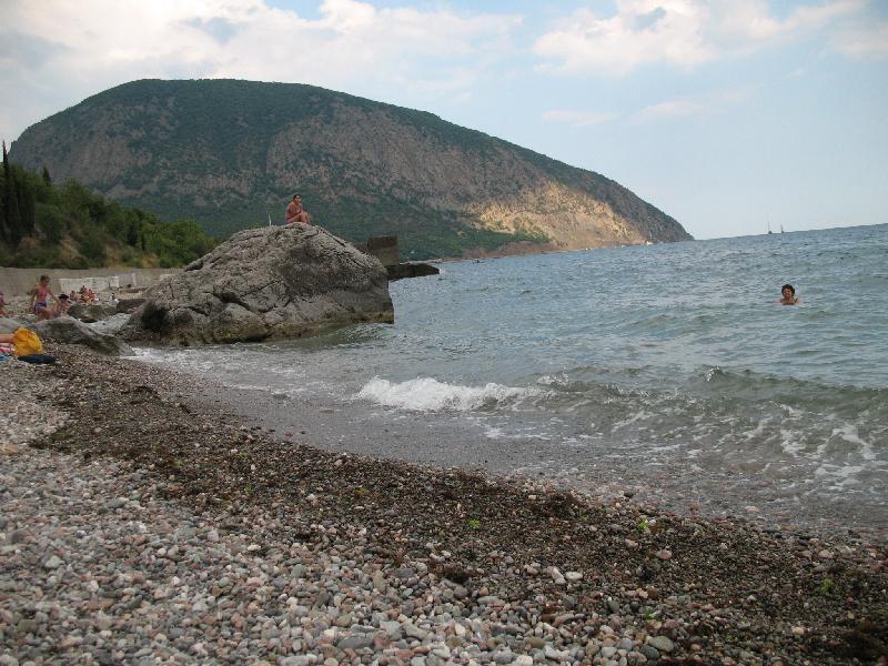 Пляж дома отдыха «Валентина» в Артеке