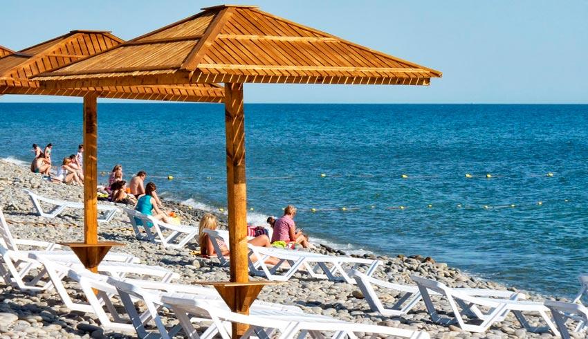 пляж в Новоросийске