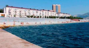городской пляж Новороссийска