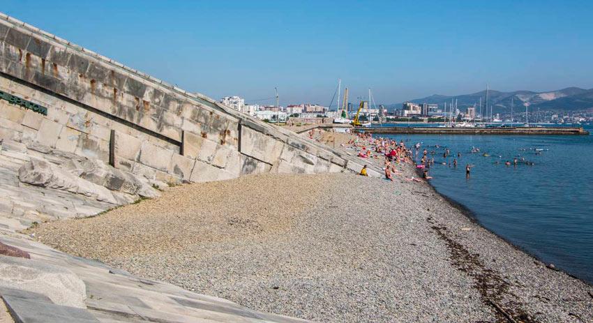 Новороссийск пляж на Малой Земле
