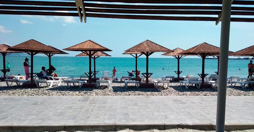 пляж поселка Алексино