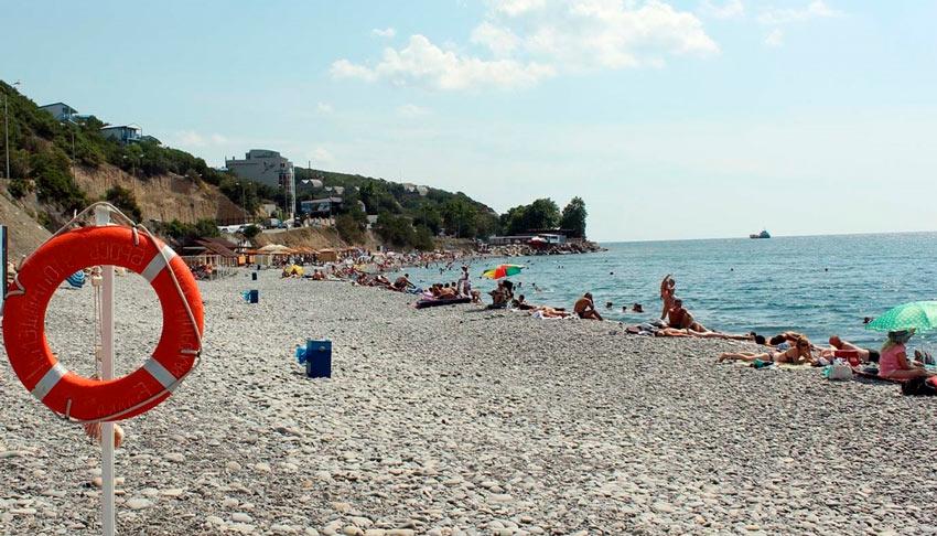 Мысхако пляж у Заречной улицы