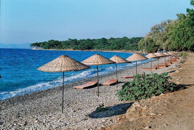 Пляжи в Кушадасах