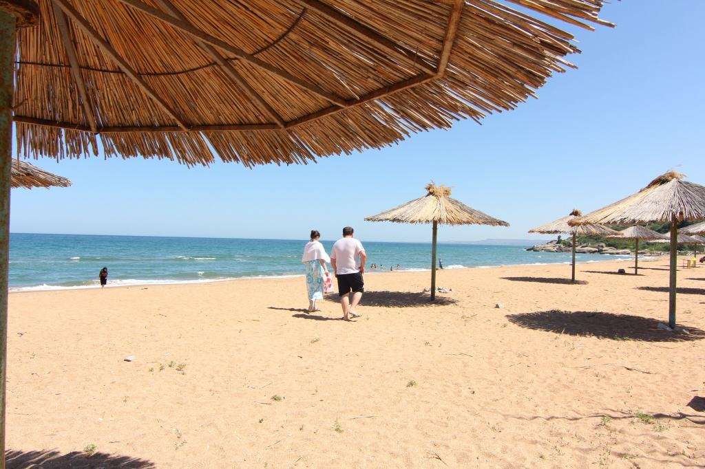 Пляж санатория Каспий
