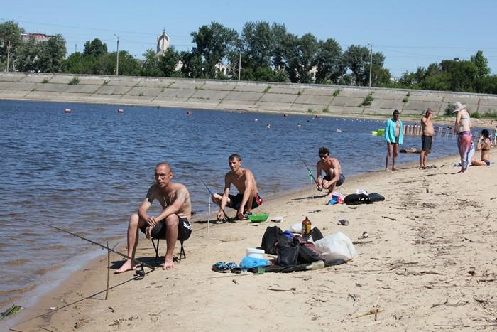 Пляж Локомотив в Казани