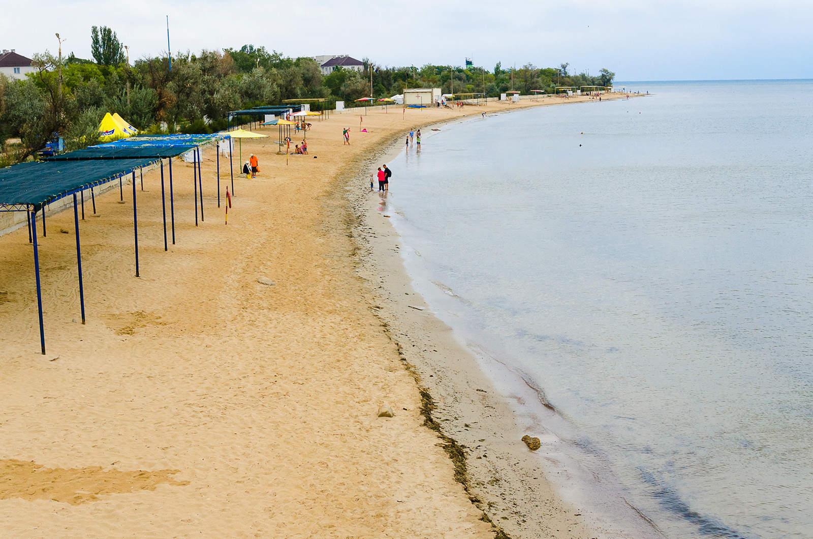 Пляжи заозерного крым фото