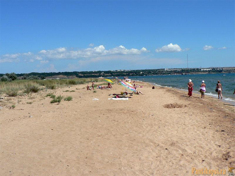 Дикий пляж на Аршинцевской косе