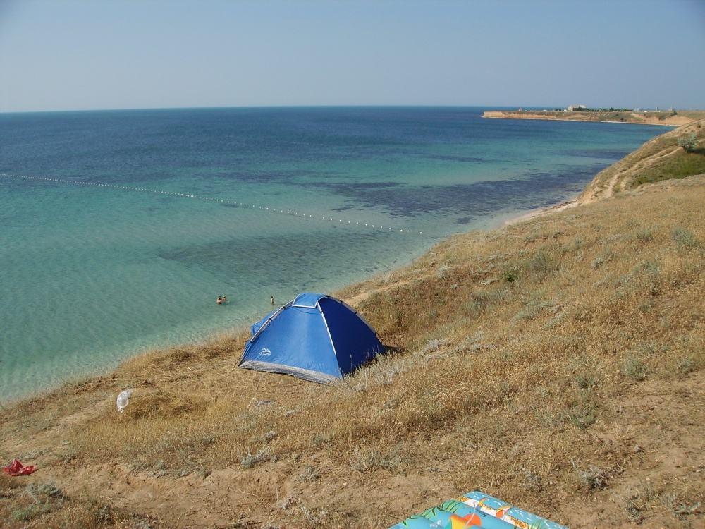 Дикий пляж в Окуневке