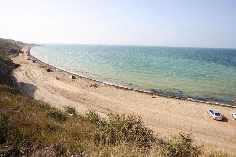 Фото Пляжа на косе Тузла в Тамани