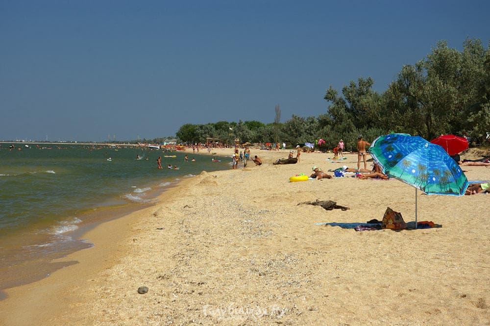 Голубицкая фото пляжей и поселка