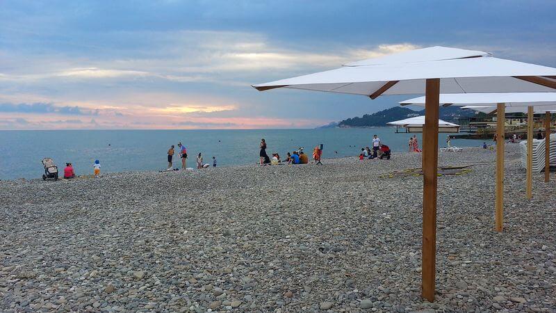 Лучшие пляжи Кудепсты