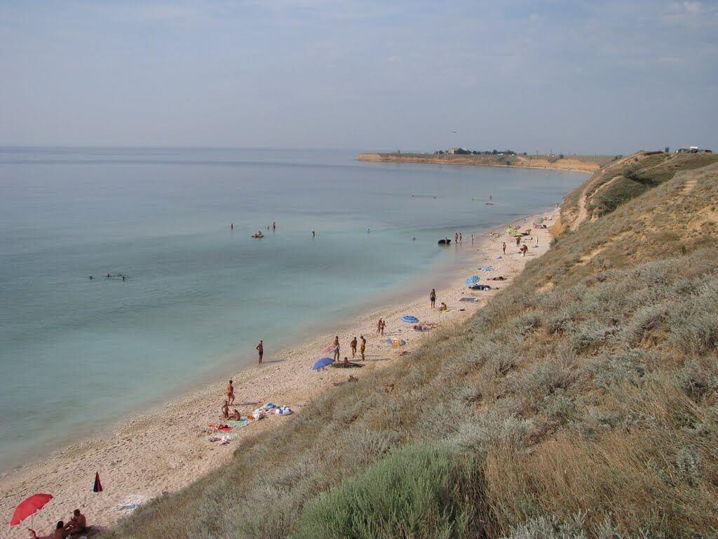 Пляж поселка Марьино
