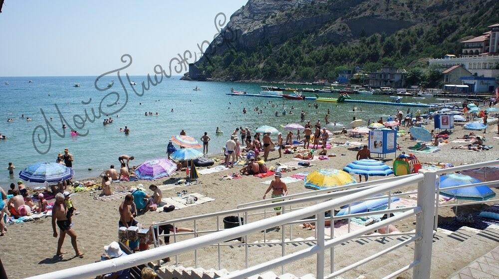 Пляжи Нового Света в Крыму