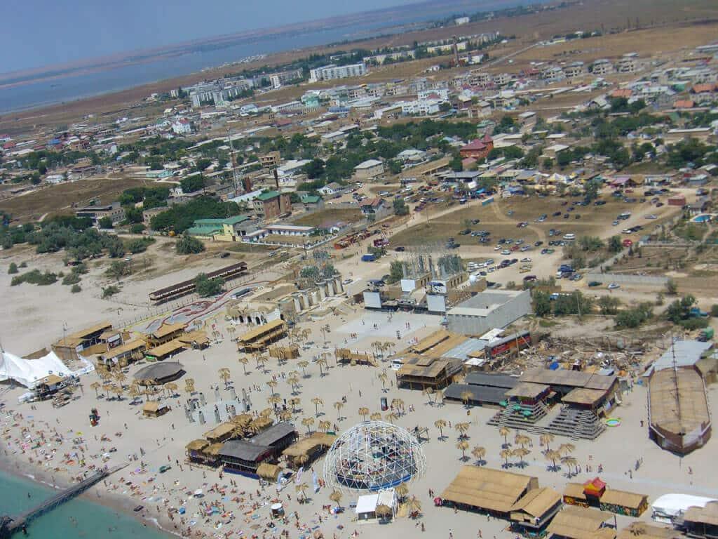 Пляжи села Поповка в Крыму