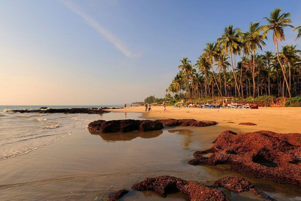 Morjim beach на фото Гоа