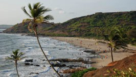 Пляж Морджим на севере Гоа