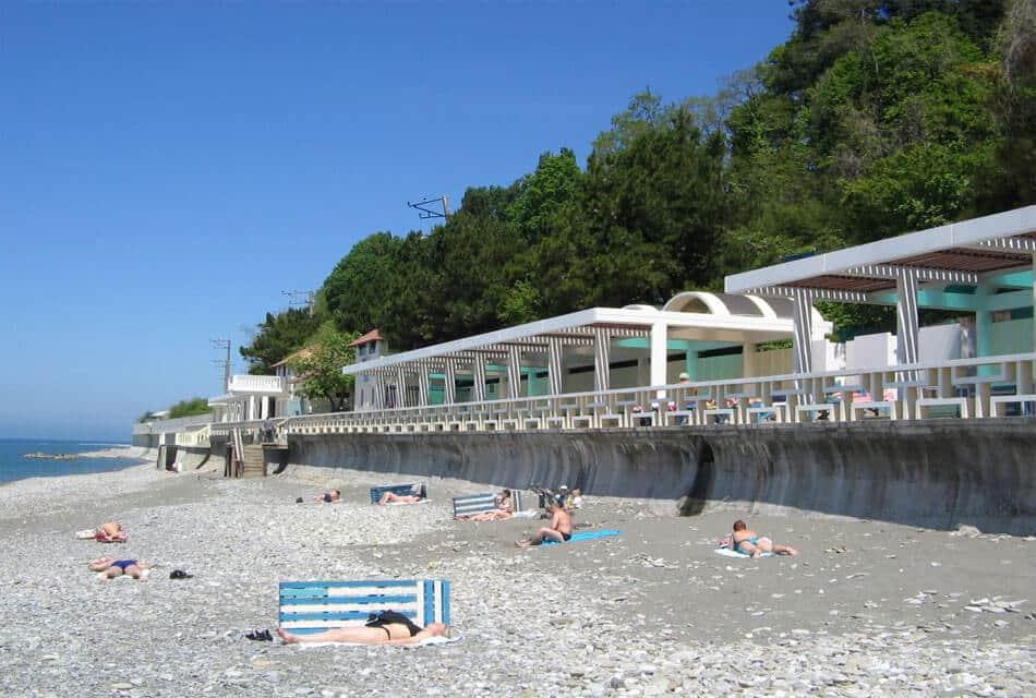 Пляж санатория Лазурный берег Головинка