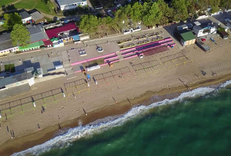 Пляж Учкуевка вид со спутника