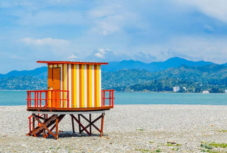 фото центрального пляжа Батуми,