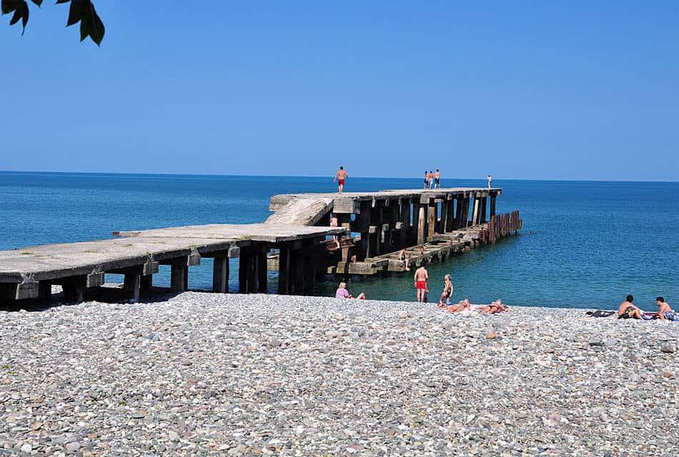 Фото пляжа Зеленый мыс Батуми