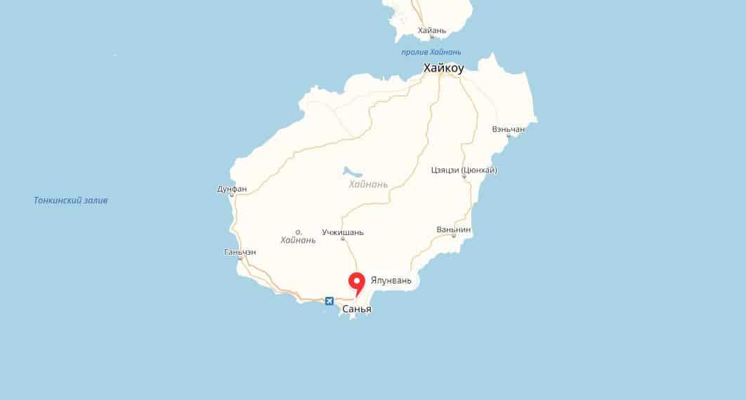 как добраться на Ялунвань на острове Хайнань