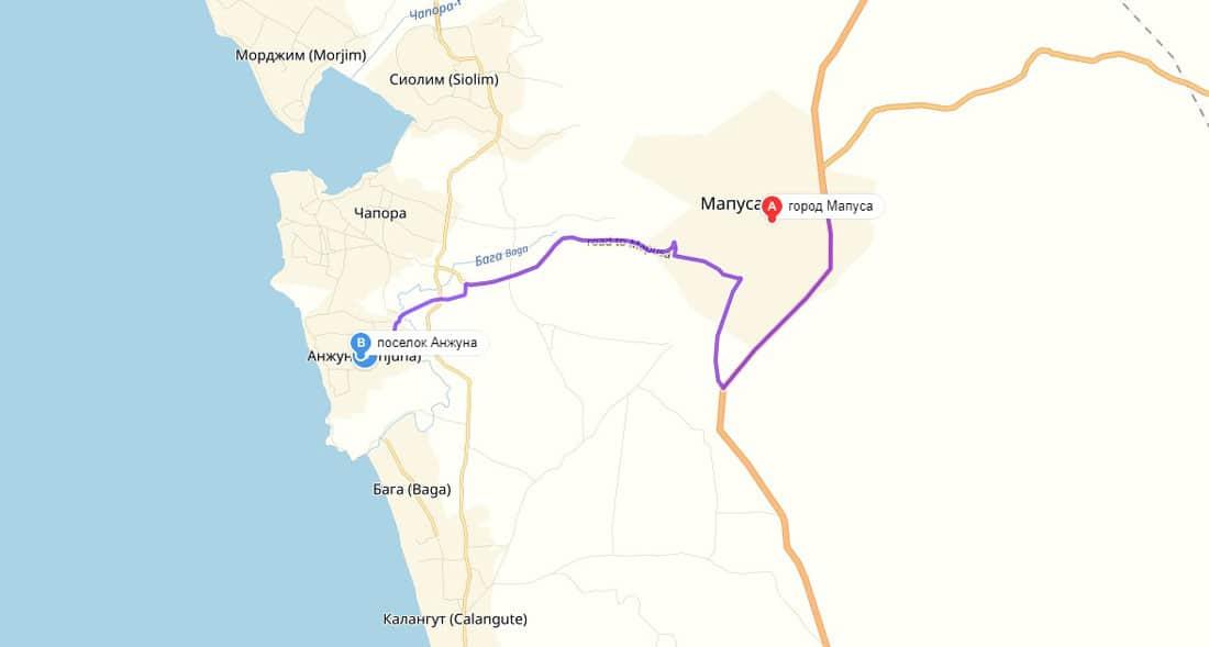 маршрут до Анджуна