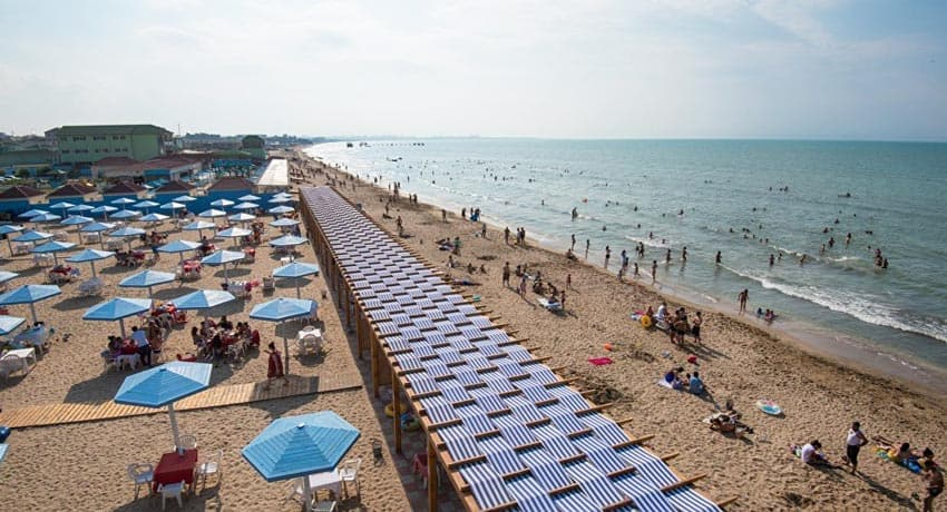 пляж Мардакян в Азербайджане