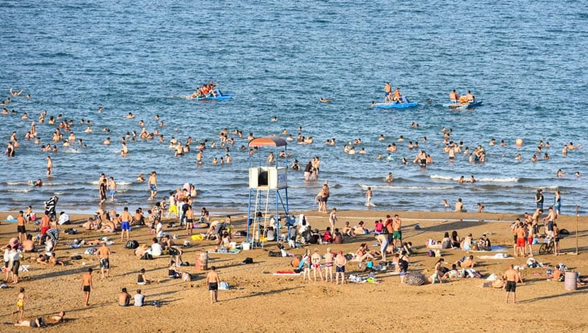 пляжи Набрань Азербайджан