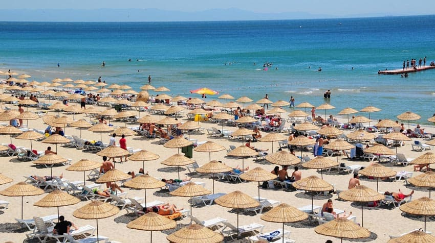 пляжи Азербайджана Баку