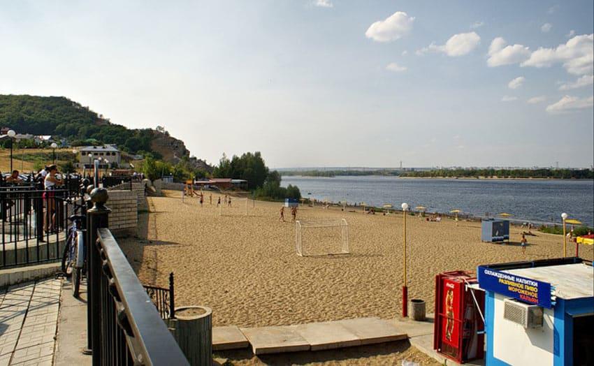оборудованый пляж Жигулевск