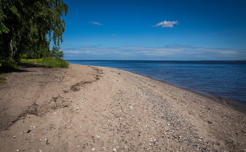 Пляж Горьковское водохранилище