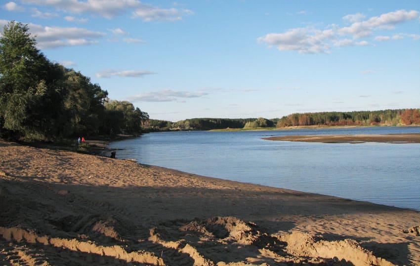 вид с пляжа Олимп
