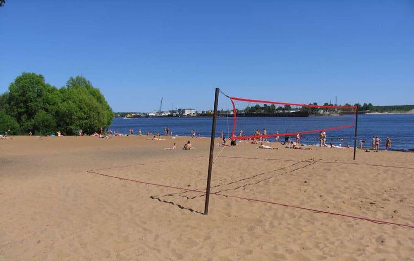 Пляж в Кимрах на Волге
