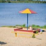 песчаный городской пляж Нижний Новгород