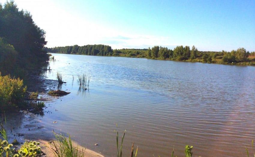 озеро в поселке Стригино Нижний Новгород