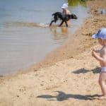 отдых с детьми на пляже Гребной канал