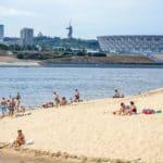 отдых на пляже в Волгограде