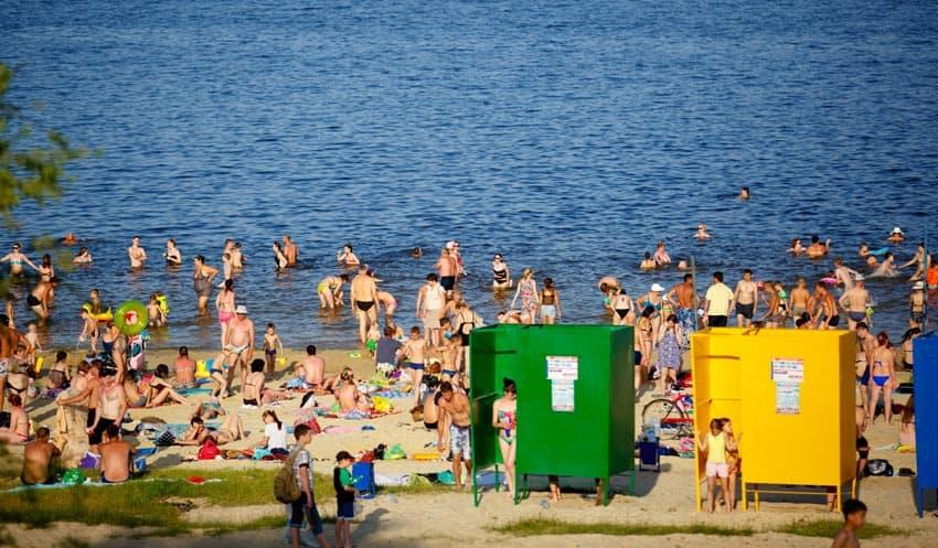 Пляж Тулака в Волгограде