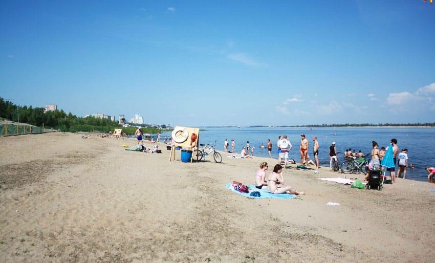 отдых на пляже Тулака в Волгограде