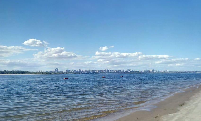 Пляж Бакалда в Волгограде