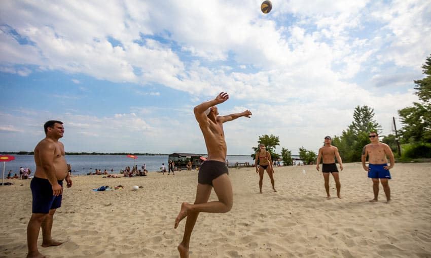 пляж Спартановка в Волгограде