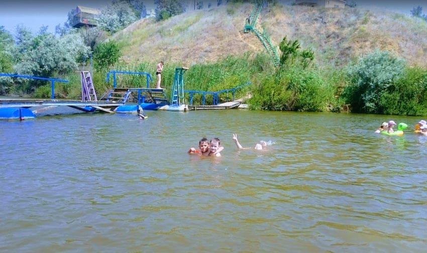 дети на Орловском пруду
