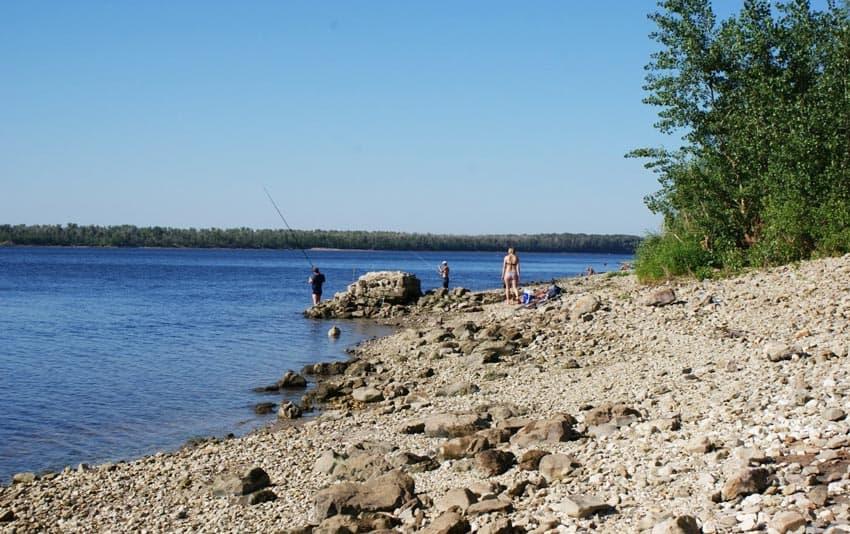 Пляж Рыбное в Вольске