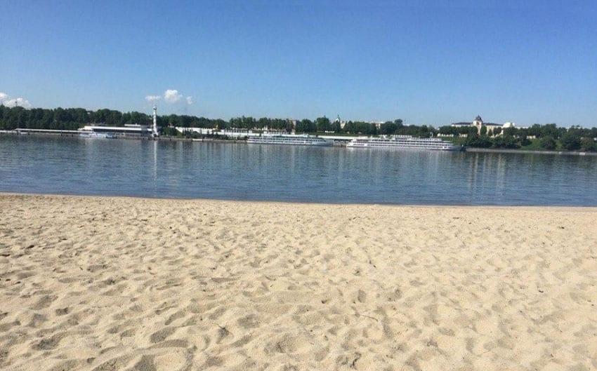 Пляж Брагино в Ярославле