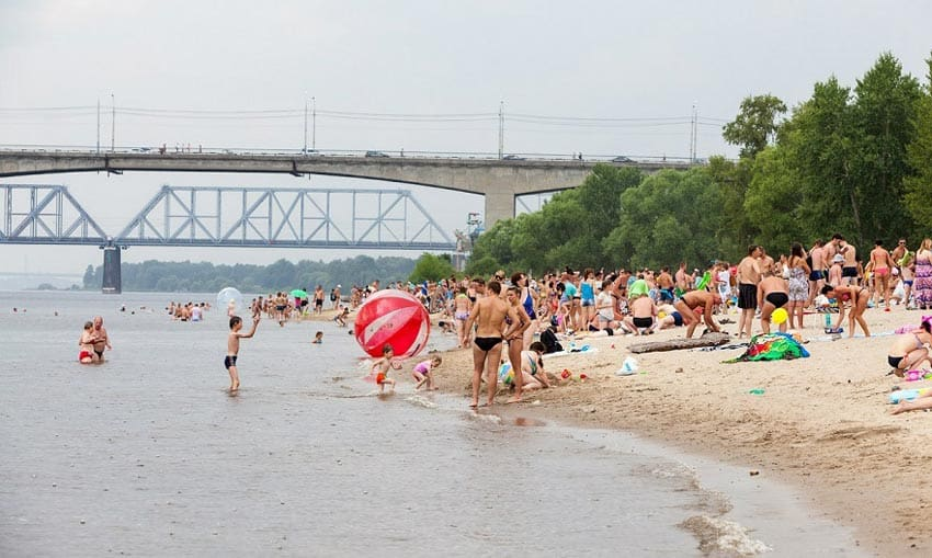 городской пляж Ярославль