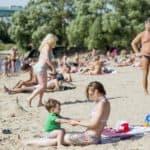 отдых на городском пляже Ярославль