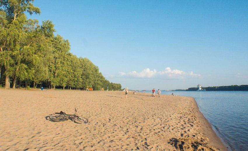 Тверицкий пляж в Ярославле