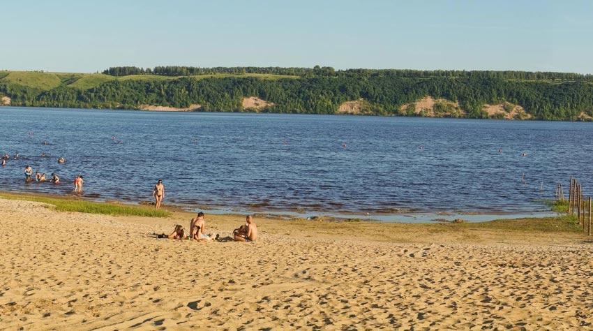 старый пляж в Зеленодольске