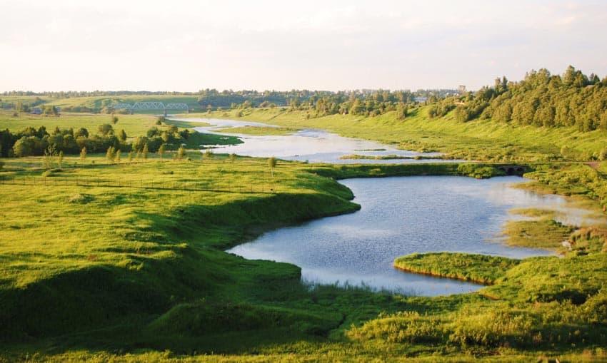 пляж Зубцов Вазузское водохранилище