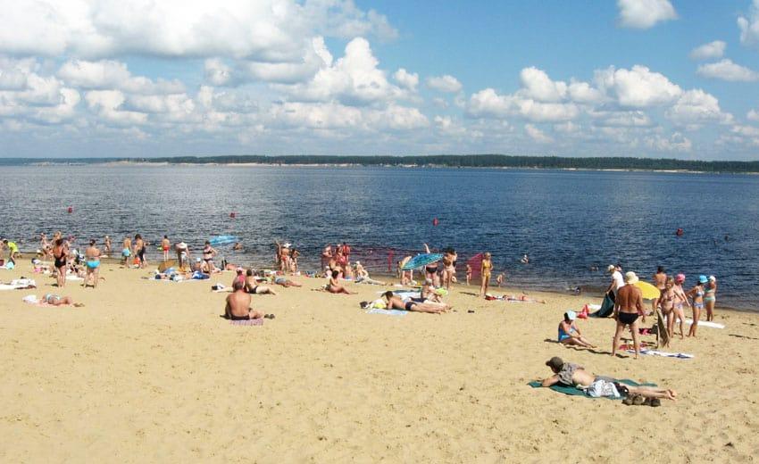 городской пляж Заволжска